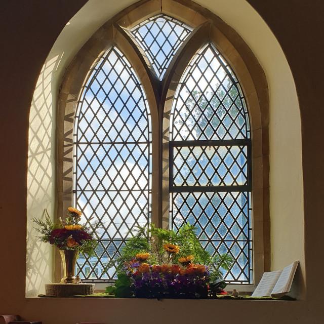 """Church Window View"" stock image"