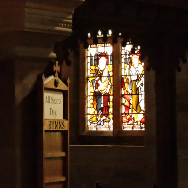 """All Saints Church Sudbury Derbyshire"" stock image"