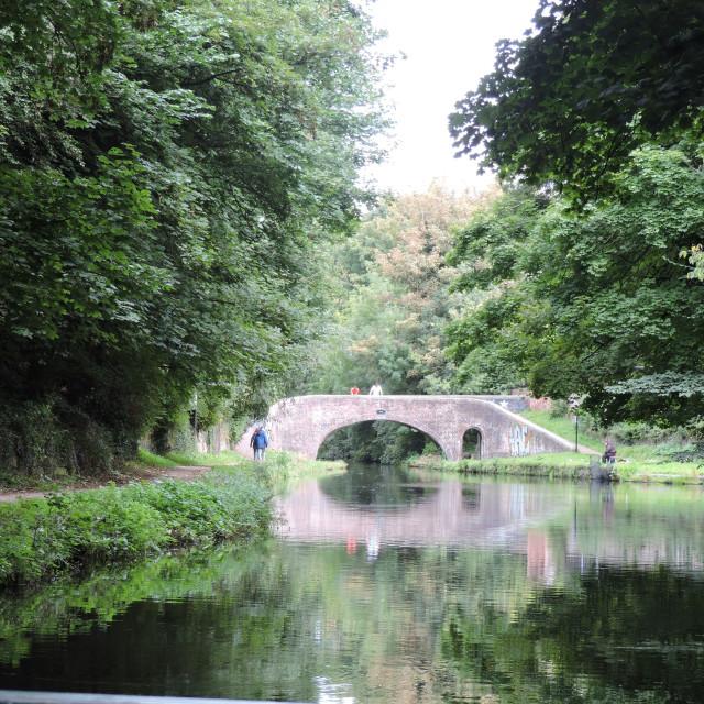 """Canal Bridge"" stock image"