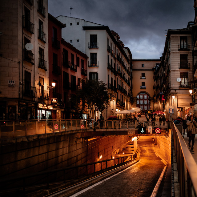 """""""Madrid in the evening"""" stock image"""