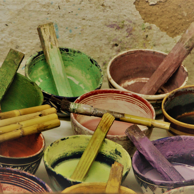 """""""Paints for pottrery."""" stock image"""
