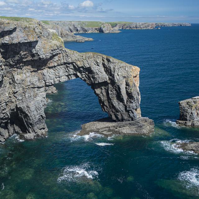 """The Greenbridge of Wales"" stock image"