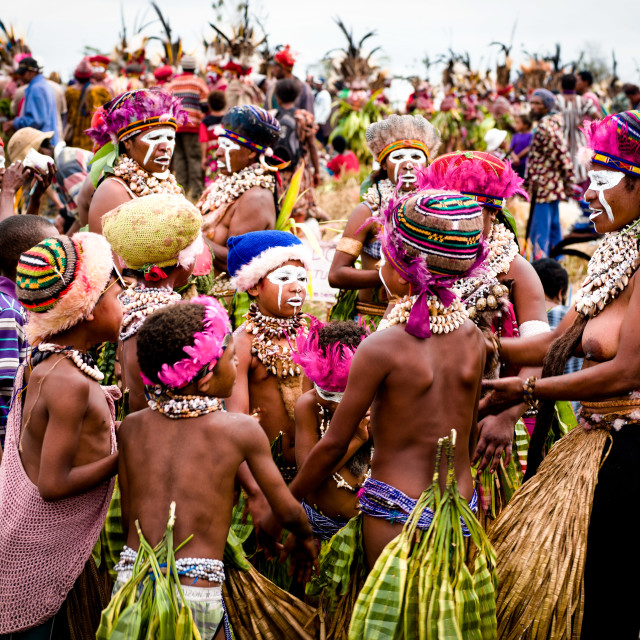 """""""Mount Hagen Sing Sing Cultural Show in Papua New Guinea"""" stock image"""