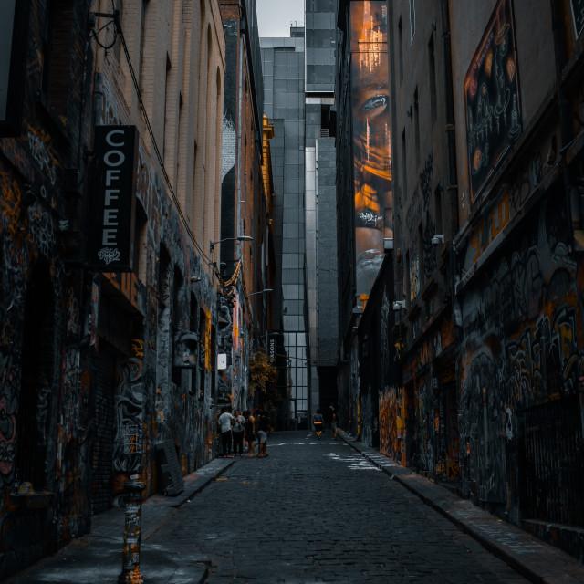 """""""Hosier Art Lane"""" stock image"""
