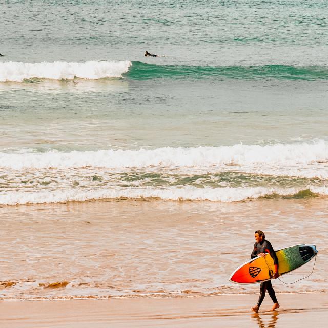 """Morning Surf"" stock image"