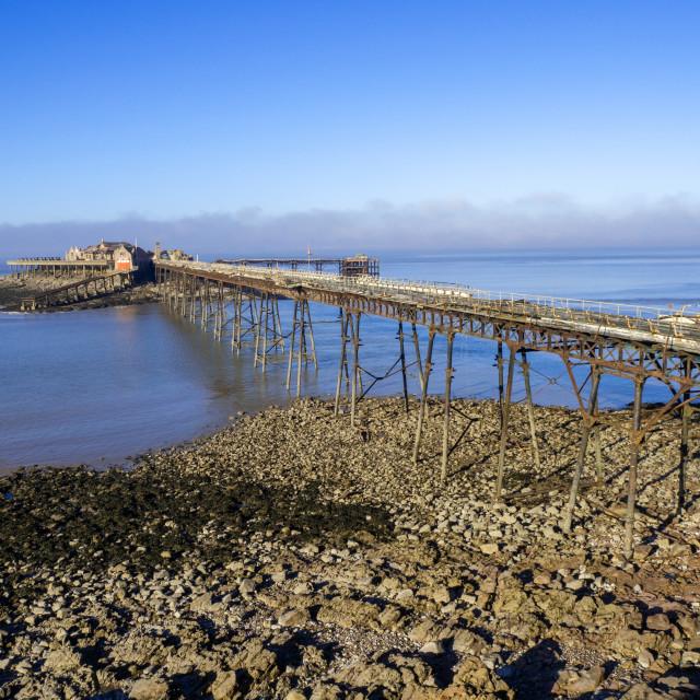 """Birnbeck pier Weston Super Mare Somerset"" stock image"