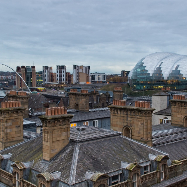 """""""Old and New Rooftops, Newcastle"""" stock image"""