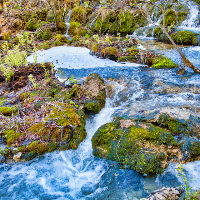 """""""Water Flowing Down Into Plitvice Lakes"""" stock image"""