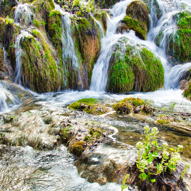 """Short Waterfalls At Plitvice Lakes National Park"" stock image"