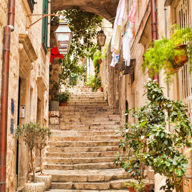 """Charming Dubrovnik Alleyway"" stock image"