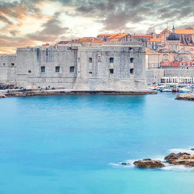 """""""High Angle View of Old City of Dubrovnik"""" stock image"""