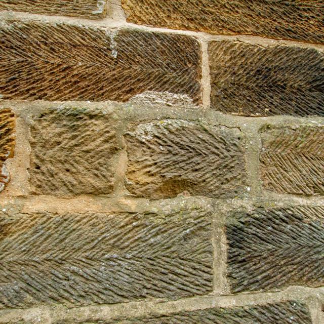 """Robin Hoods Bay, Yorkshire, Traditional Stonework."" stock image"