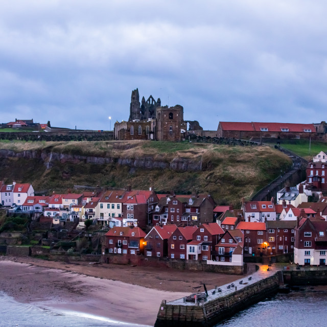 """""""View of Whitby"""" stock image"""