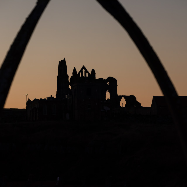 """""""Whitby Silhouette"""" stock image"""