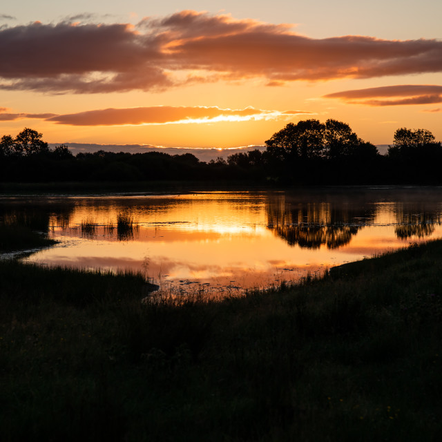 """""""Sunrise Reflections"""" stock image"""