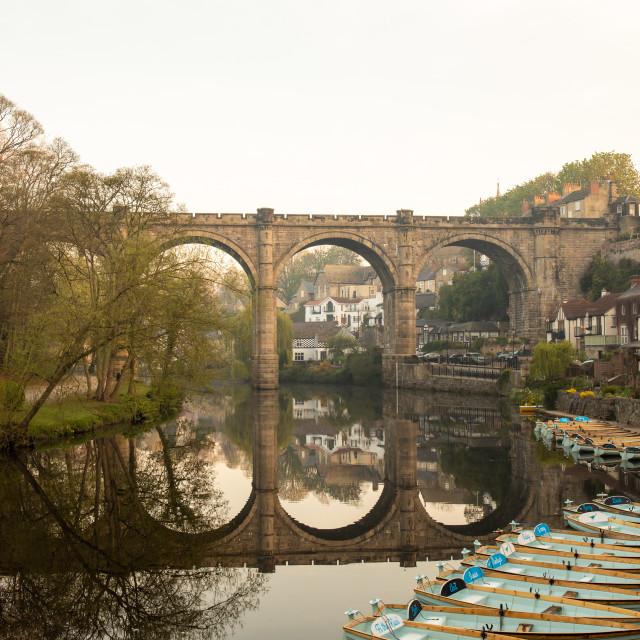 """""""Knaresborough Viaduct"""" stock image"""