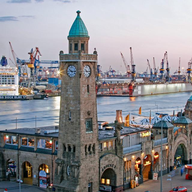 """Landungsbrücken - Port of Hamburg"" stock image"