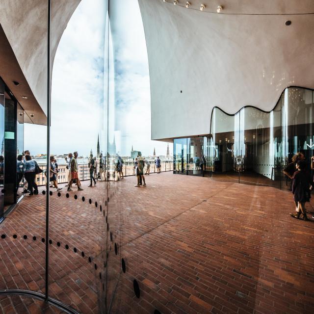 """""""Elbphilharmonie und Skyline von Hamburg an der Elbe"""" stock image"""