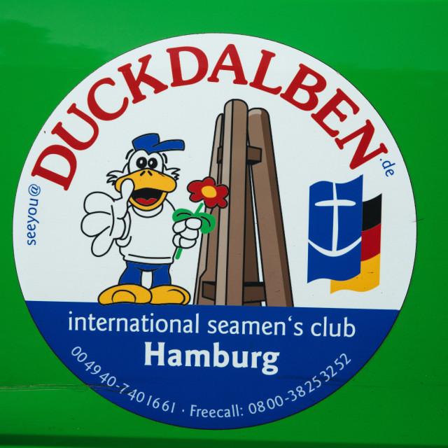 """""""Deutsche Seemannsmission, Duckdalben"""" stock image"""