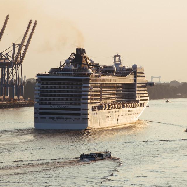 """""""Kreuzfahrtschiff MSC Preziosia"""" stock image"""
