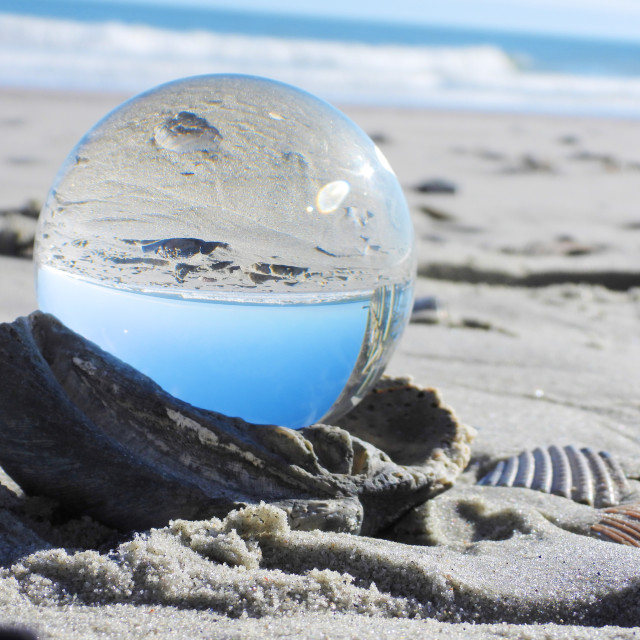"""Crystal Ball on the Beach"" stock image"