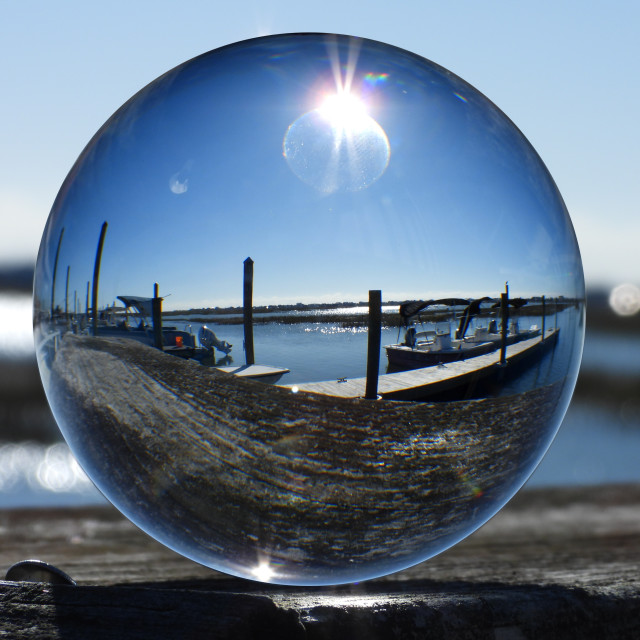 """Crystal Ball at Marsh Pier"" stock image"