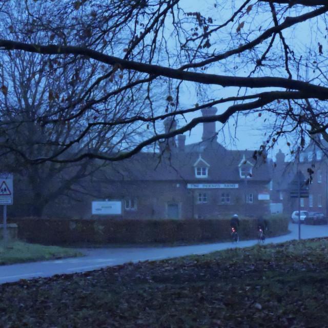 """Sudbury Village Derbyshire November 2020"" stock image"