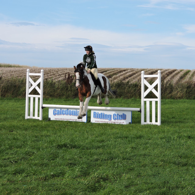 """Caledonian Riding Club 2015 Highlands Scotland"" stock image"