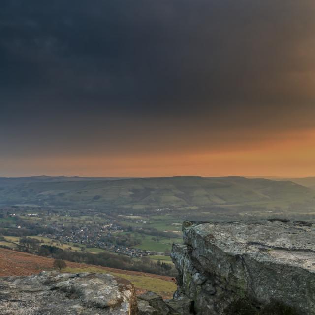 """Bamford Edge sunset"" stock image"