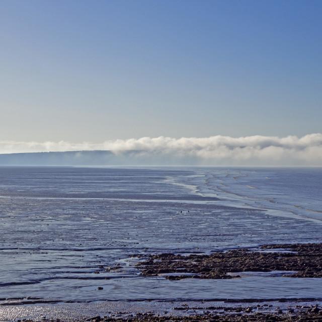 """Brean Down Somerset over Weston Bay"" stock image"