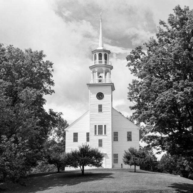 """""""Strafford Meeting House"""" stock image"""