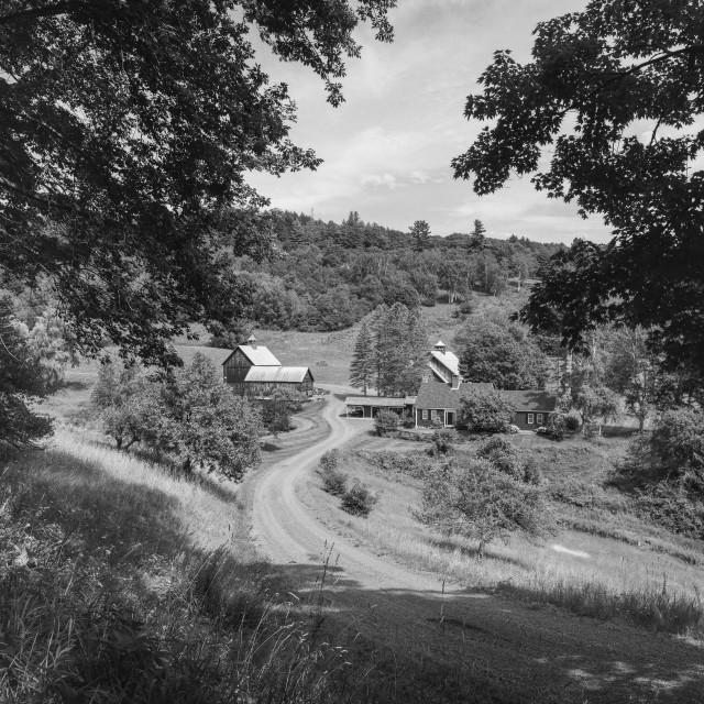 """Sleepy Hollow Farm"" stock image"