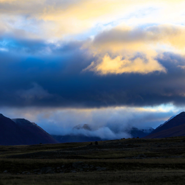 """""""Sunrise over Iceland"""" stock image"""