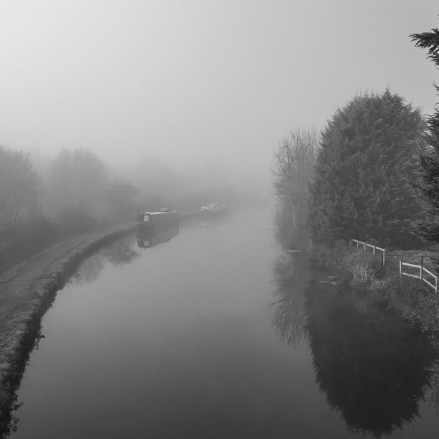 """View from Old Fishery Lane Bridge"" stock image"