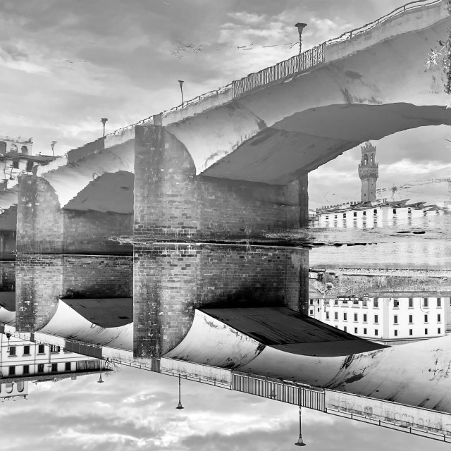 """""""Ponte alle Grazie, Florence"""" stock image"""