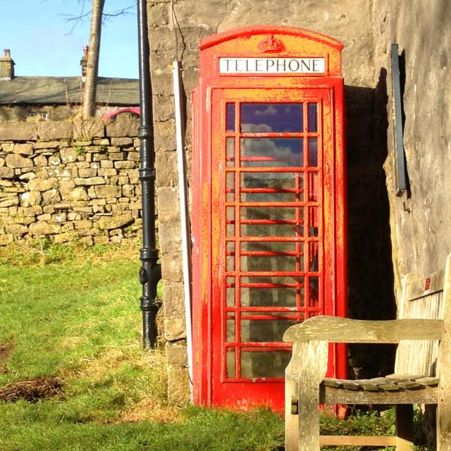 """Downham village Clitheroe"" stock image"