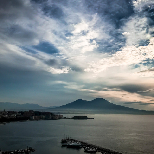 """The bay of Naples"" stock image"