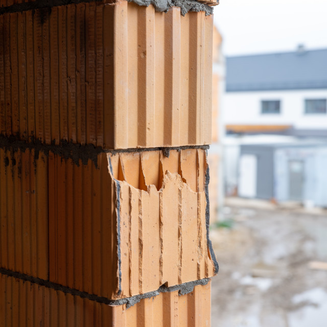 """""""building a house, close-ups of construction errors"""" stock image"""