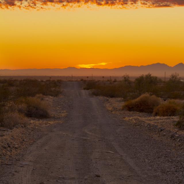 """Rural sunset"" stock image"