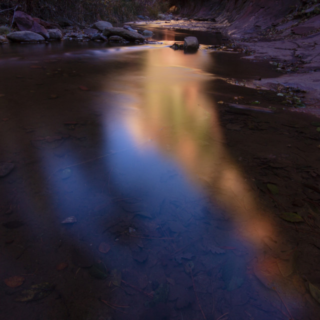 """""""Abstract colors of the canyon reflection"""" stock image"""