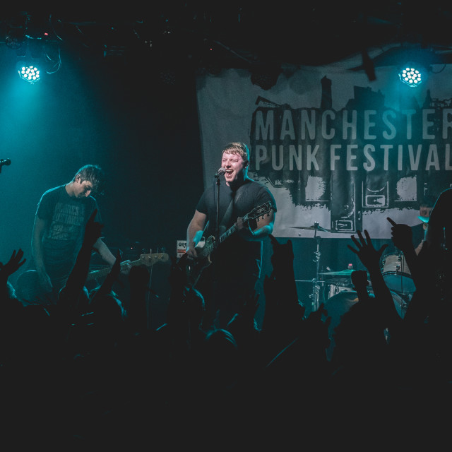"""""""Above Them   Manchester Punk Festival 2019"""" stock image"""