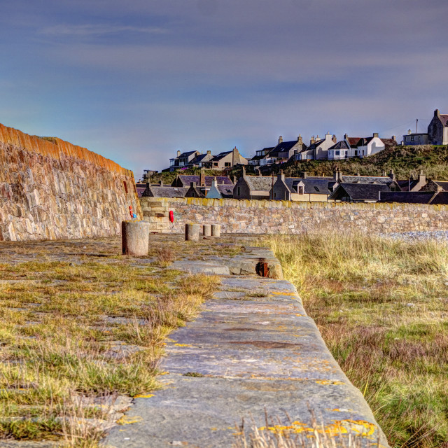 """""""Old Buckie Harbour"""" stock image"""