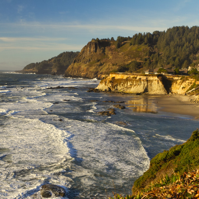 """""""Golden hour on the coast"""" stock image"""