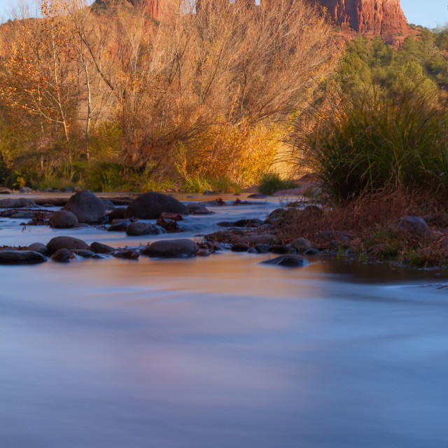 """""""Sunset on Cathedral Rock"""" stock image"""