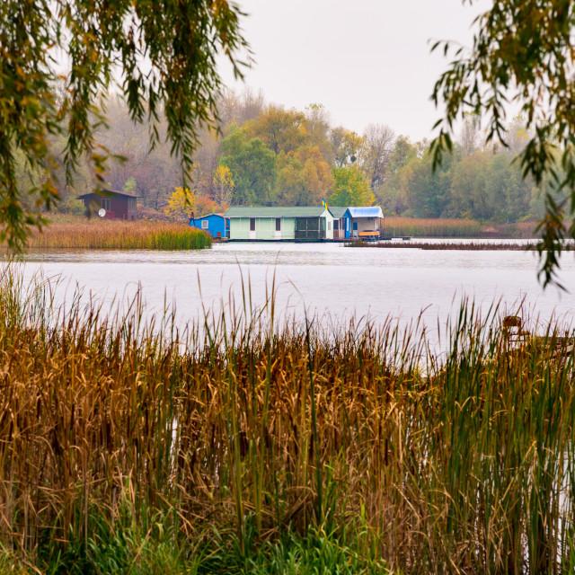 """View of the Dnieper river in Kiev, Ukraine, in winter"" stock image"