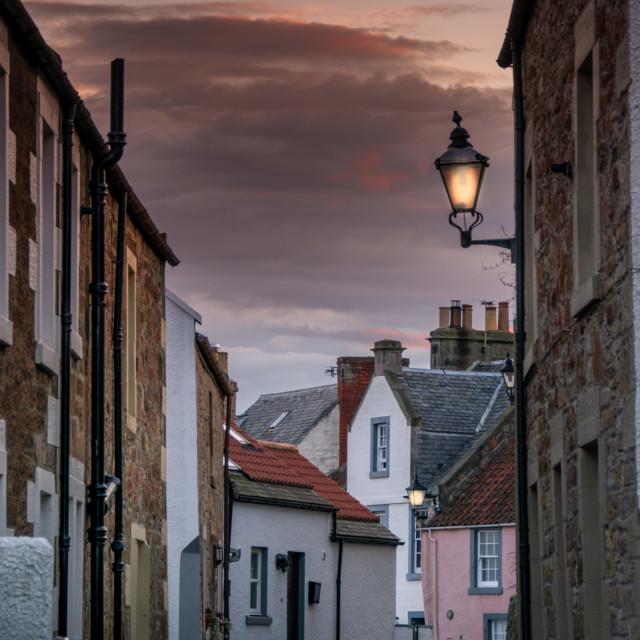 """""""Rose Street, St Monans"""" stock image"""