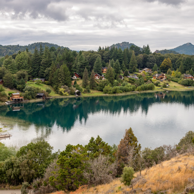 """The lakes in the Bariloche area in Patagonia, Argentina"" stock image"