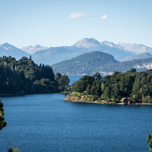 """Lakes of Bariloche, Patagonia, Argentina"" stock image"