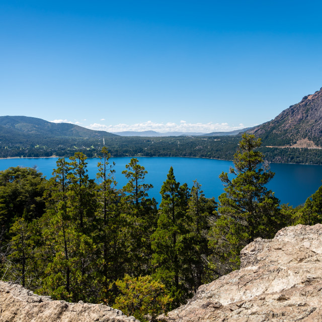 """The lakes of Bariloche, Patagonia, Argentina"" stock image"