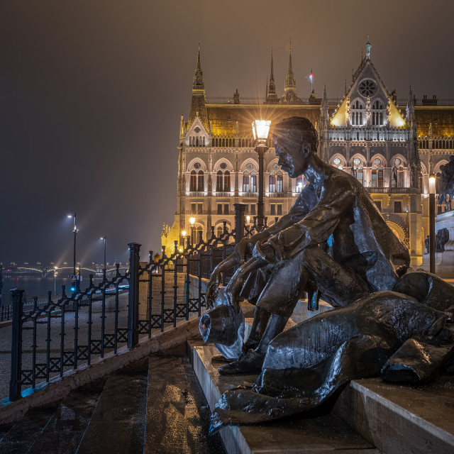 """József Attila statue in Budapest"" stock image"